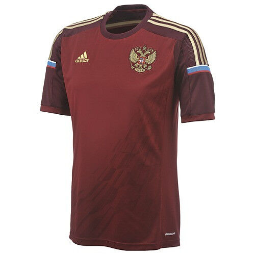 Adidas Russia World Cup WC 2014 Home Soccer Jersey Brand
