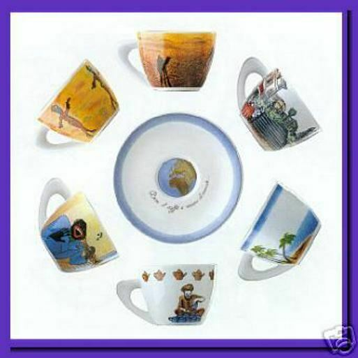 Imported Italian Espresso cup set of 6 by Giannini ...