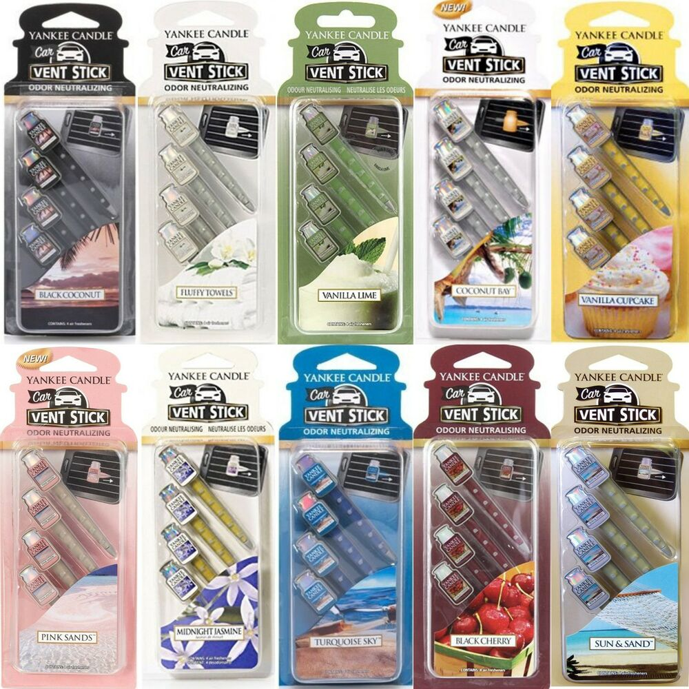 yankee candle vent sticks car air freshener 4 packs choose from all 17 scents