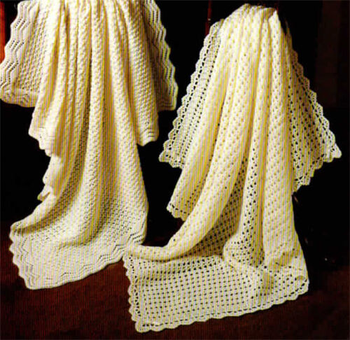 Lovely baby crochet & Knitted shawl PATTERN in 3 or 4 ply wool-Pattern ...