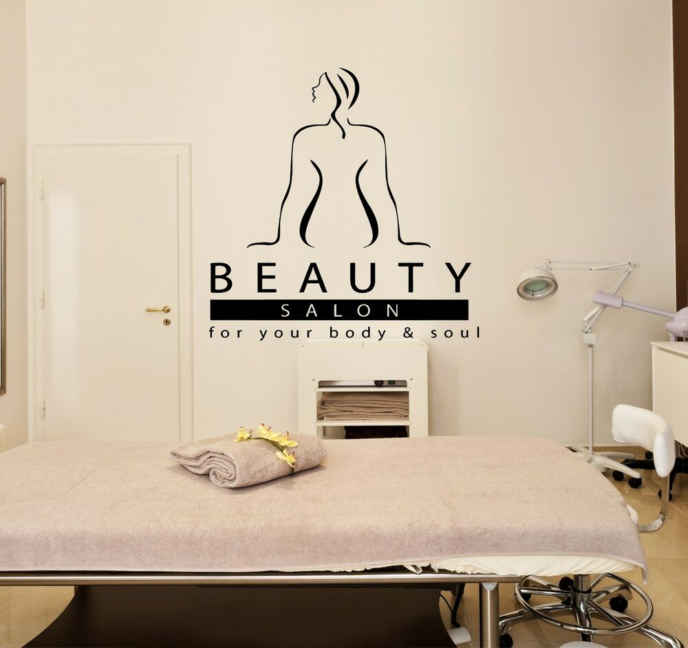 Wall stickers vinyl decal massage beauty salon spa for Stickers salon