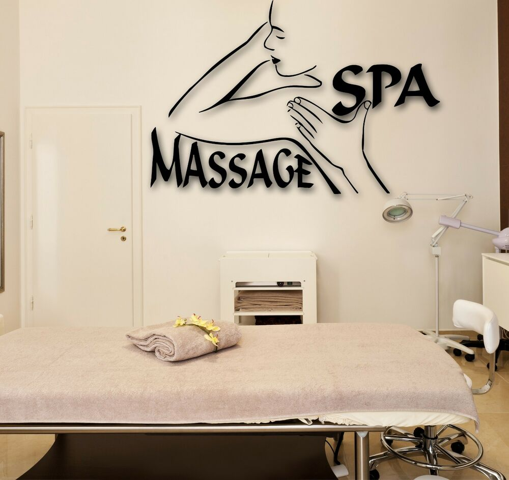Wall stickers vinyl decal spa massage beauty salon relax for Spa wall decor