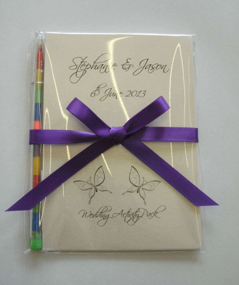 Wedding Photo Books Uk: Personalised Children Wedding Activity Pack Book Bag Ideal