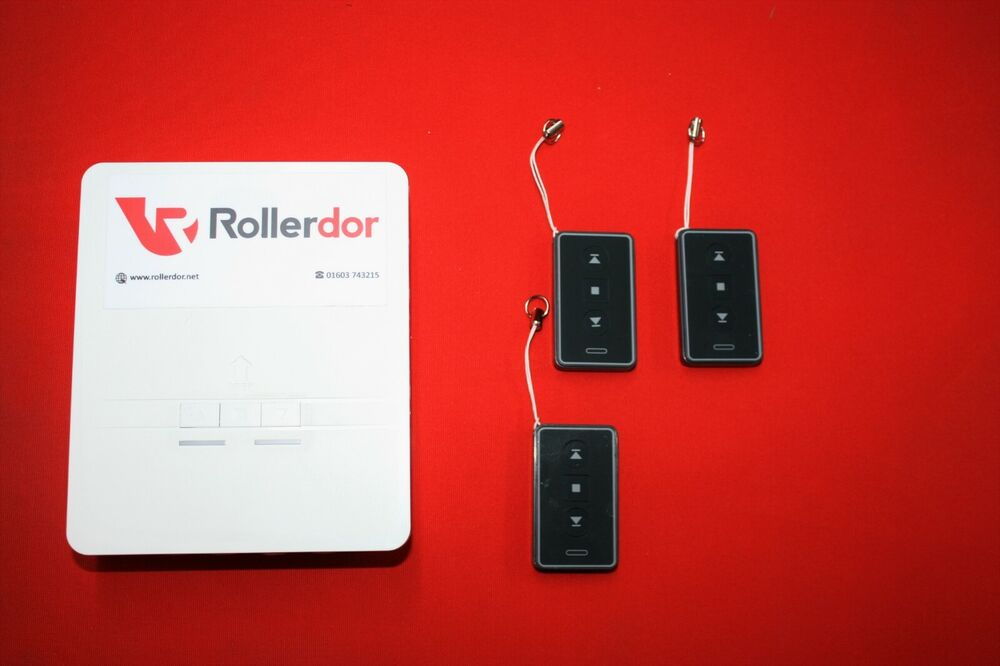 Roller garage door receiver box rd with transmitters