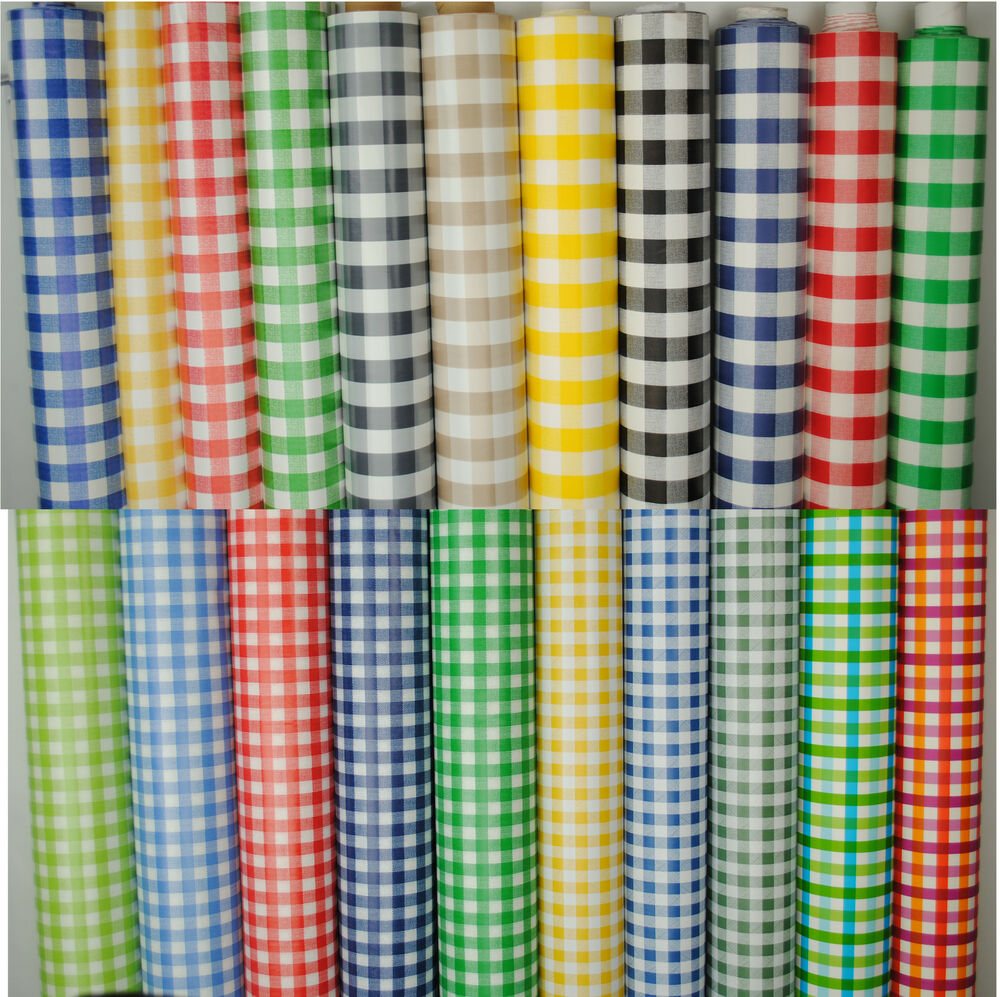 Wipeclean Tablecloth Oilcloth Vinyl Pvc Gingham Check