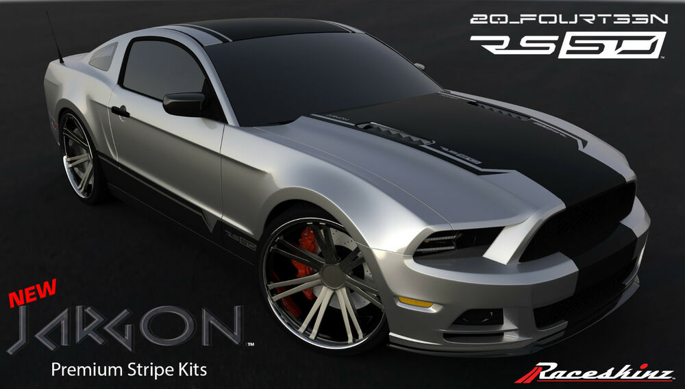 Raceskinz 174 2013 2014 Ford Mustang Stripe Kit Rs50 Jargon