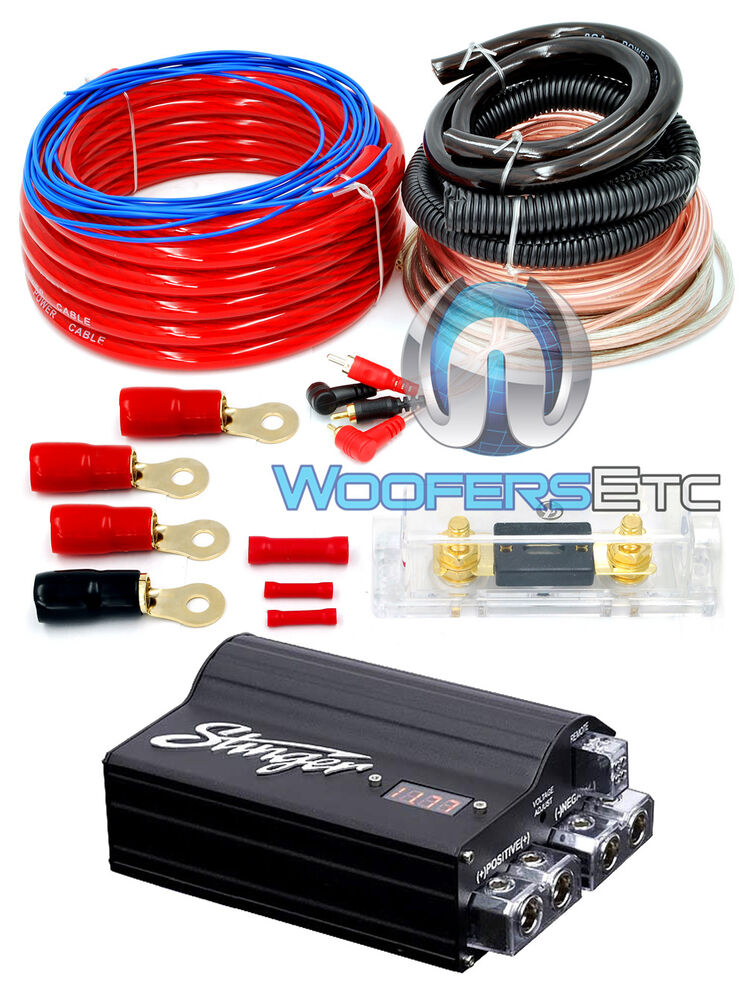 pkg stinger spc505 power 5 farad digital capacitor 0 amplifier wire kit ebay