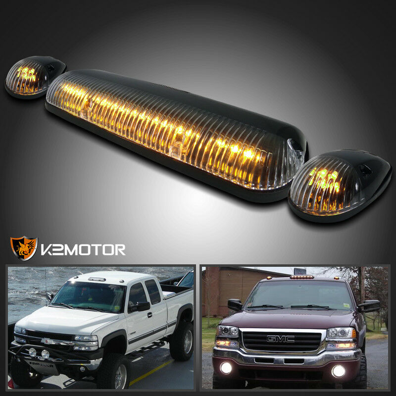 Amber Led Cab Roof Top Lights Marker Running Lamps Clear