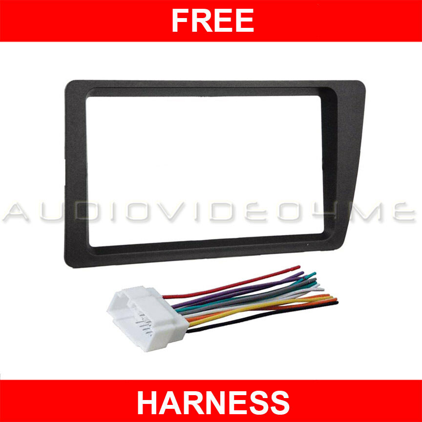 01 05 honda civic car stereo double din radio dash mount kit harness 02 03 04 ebay. Black Bedroom Furniture Sets. Home Design Ideas