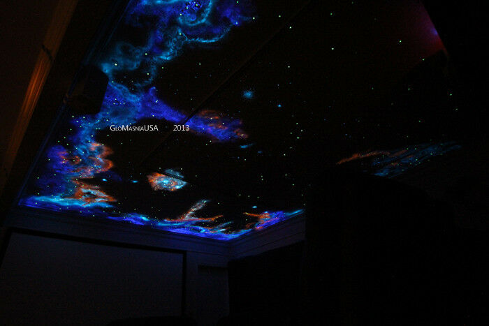 Home Theater Painting Kit Glow In The Dark Star Ceiling