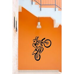 Wall Stickers Vinyl Decal Sport Motorcycle Trials Freestyle Motocross ig665