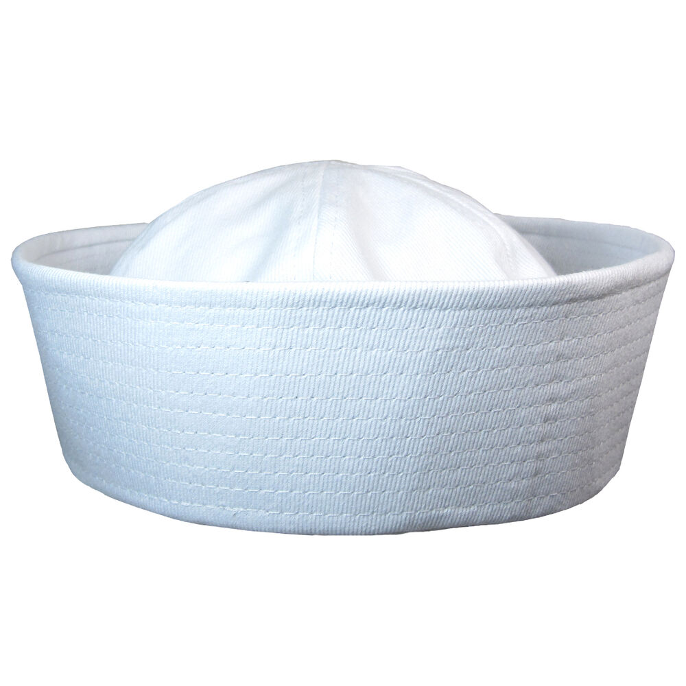 Us Navy White Sailor Cap All Sizes Ww2 Repro Dixie Cup
