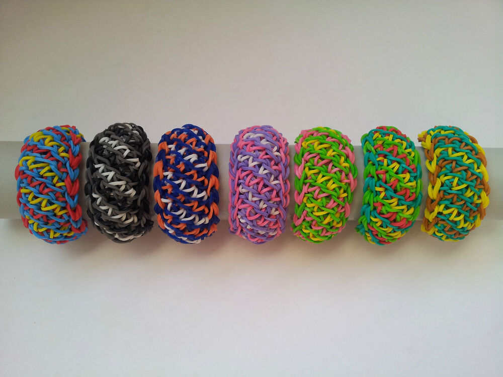 rainbow loom rubber band bracelet grace pick or custom made ebay. Black Bedroom Furniture Sets. Home Design Ideas