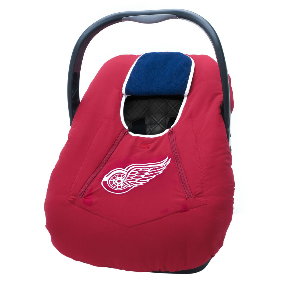 nhl infant car seat carrier cover or bunting bag for baby detroit red wings ebay. Black Bedroom Furniture Sets. Home Design Ideas