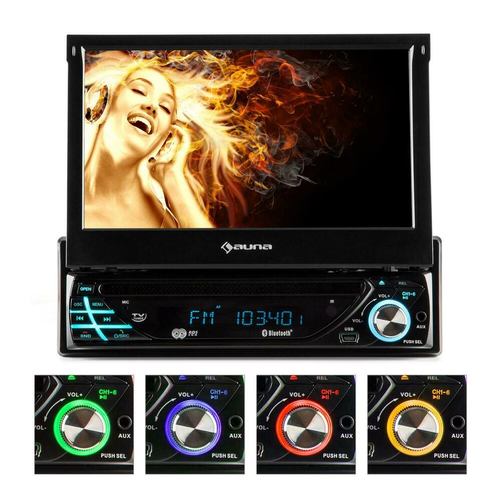 18cm 7 touchscreen moniceiver 1din dvd autoradio mp3 player rds usb bluetooth ebay. Black Bedroom Furniture Sets. Home Design Ideas