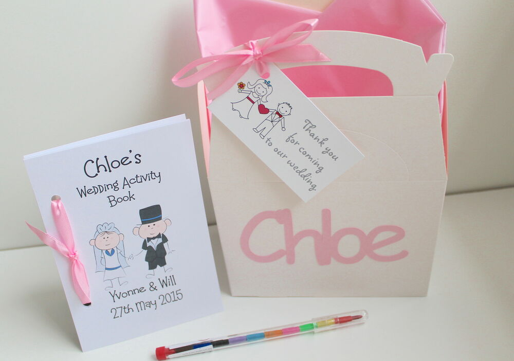 Childrens Wedding Gifts: Personalised Childrens Wedding Activity Gift Box And A6