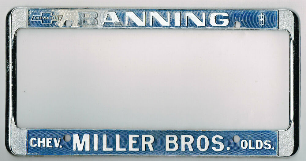 banning california miller bros chevrolet oldsmobile vintage license. Cars Review. Best American Auto & Cars Review