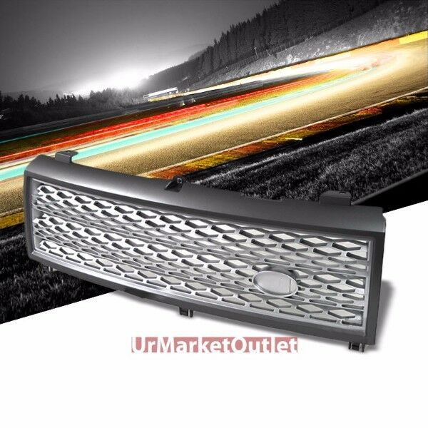 Front Mesh Silver/Grey Grille Grill For Land Rover 03-05