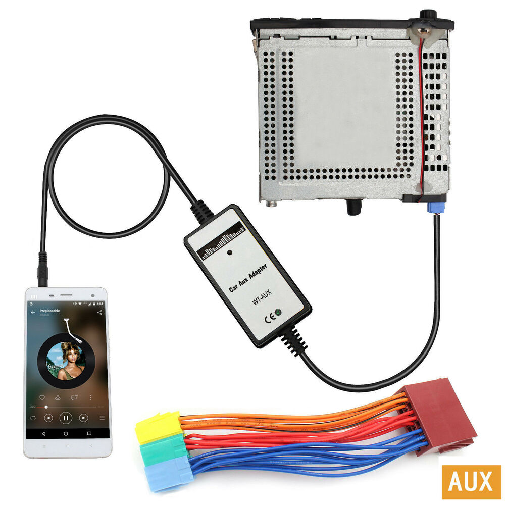 Car Mp3 Player Radio Interface Aux In Adapter For Audi