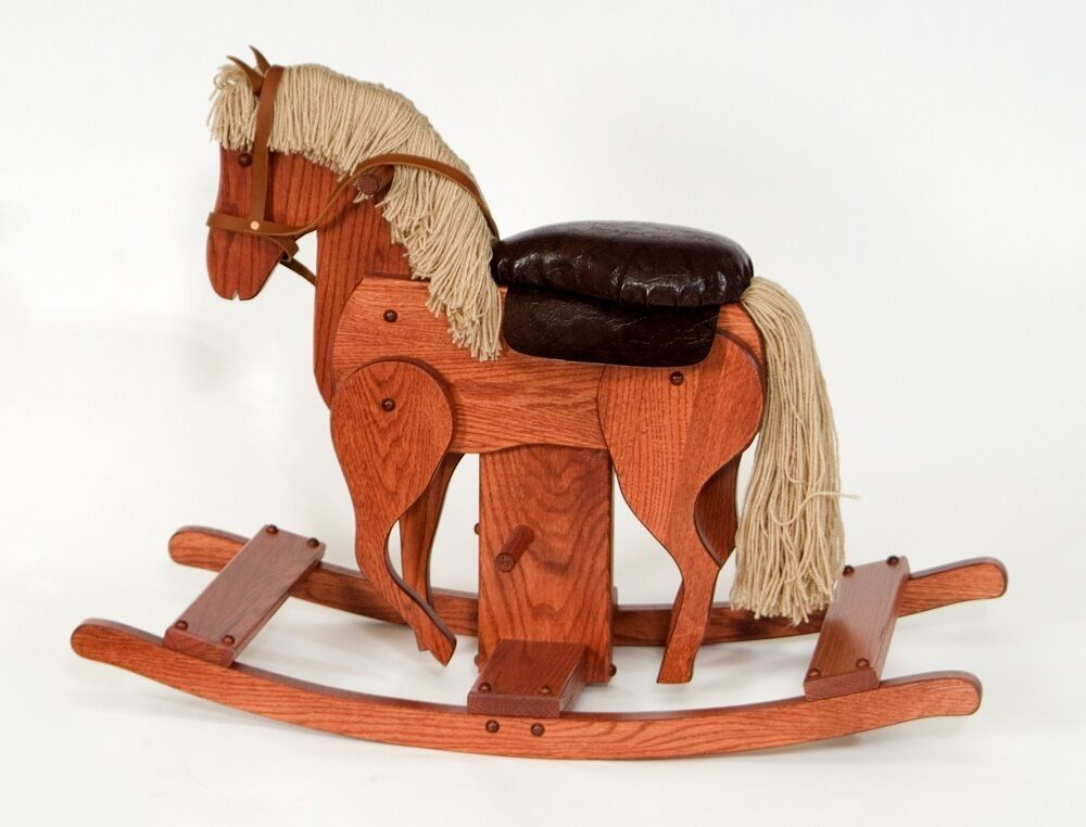 Wooden Toys For Pre School : Amish rocking hobby horse solid wood wooden handcrafted