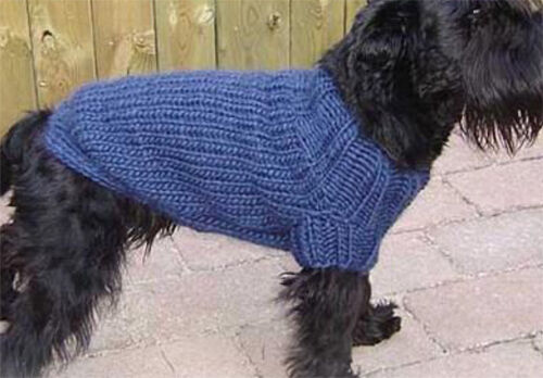 Free Knitting Patterns For Very Small Dogs : Nice easy knit dog coat- knitting pattern- fits 30-50cm ...