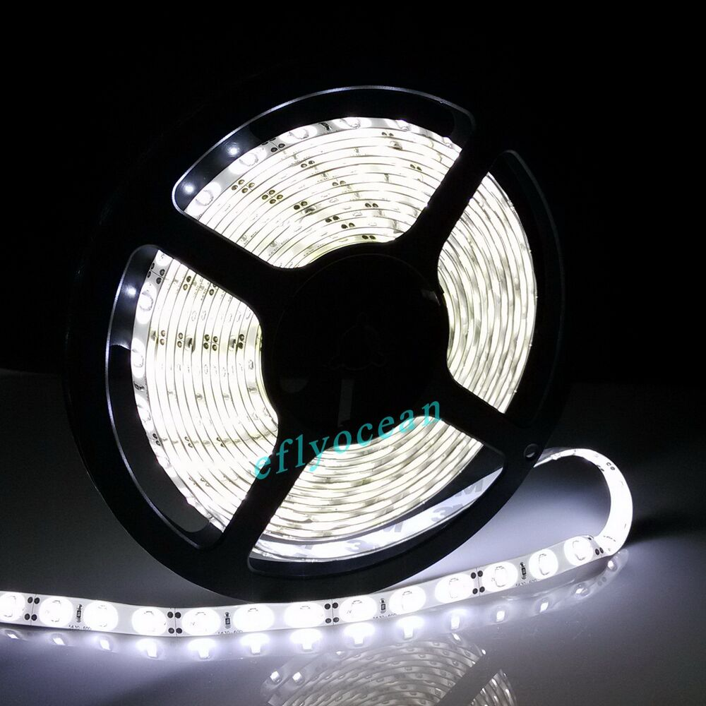 5m 5630 smd 300led waterproof 12v dc white flexible led. Black Bedroom Furniture Sets. Home Design Ideas