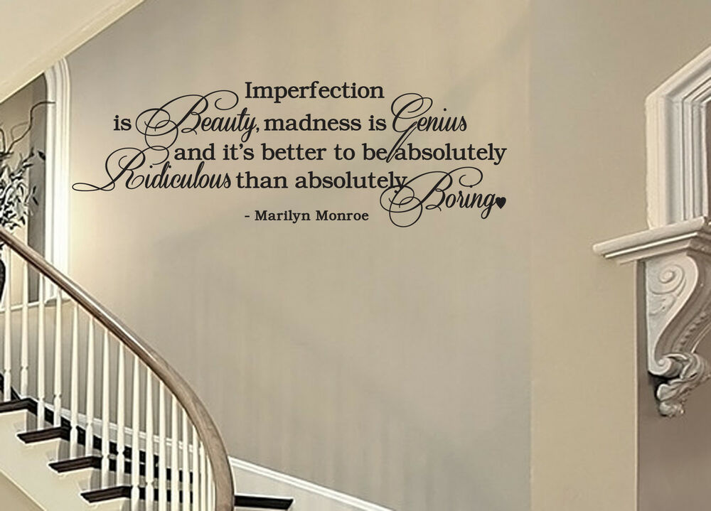 IMPERFECTION IS BEAUTY... Marilyn Monroe Vinyl Wall Decal