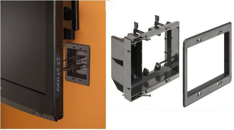 Low Voltage Wall Mounting : Gang arlington recessed tv box wall plate low voltage