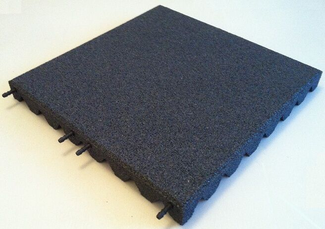 Grey Rubber Playground Tiles Mats 50mm Thick 1 7m
