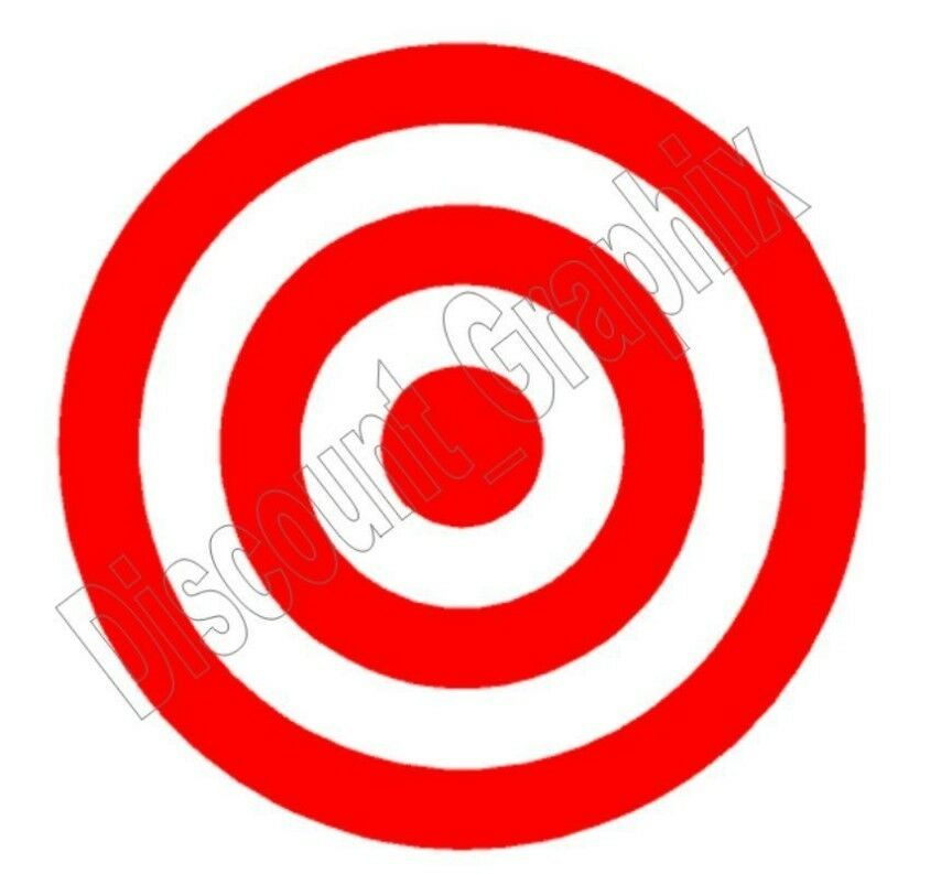 Bullseye Target Practice Vinyl Decal Sticker Hunting