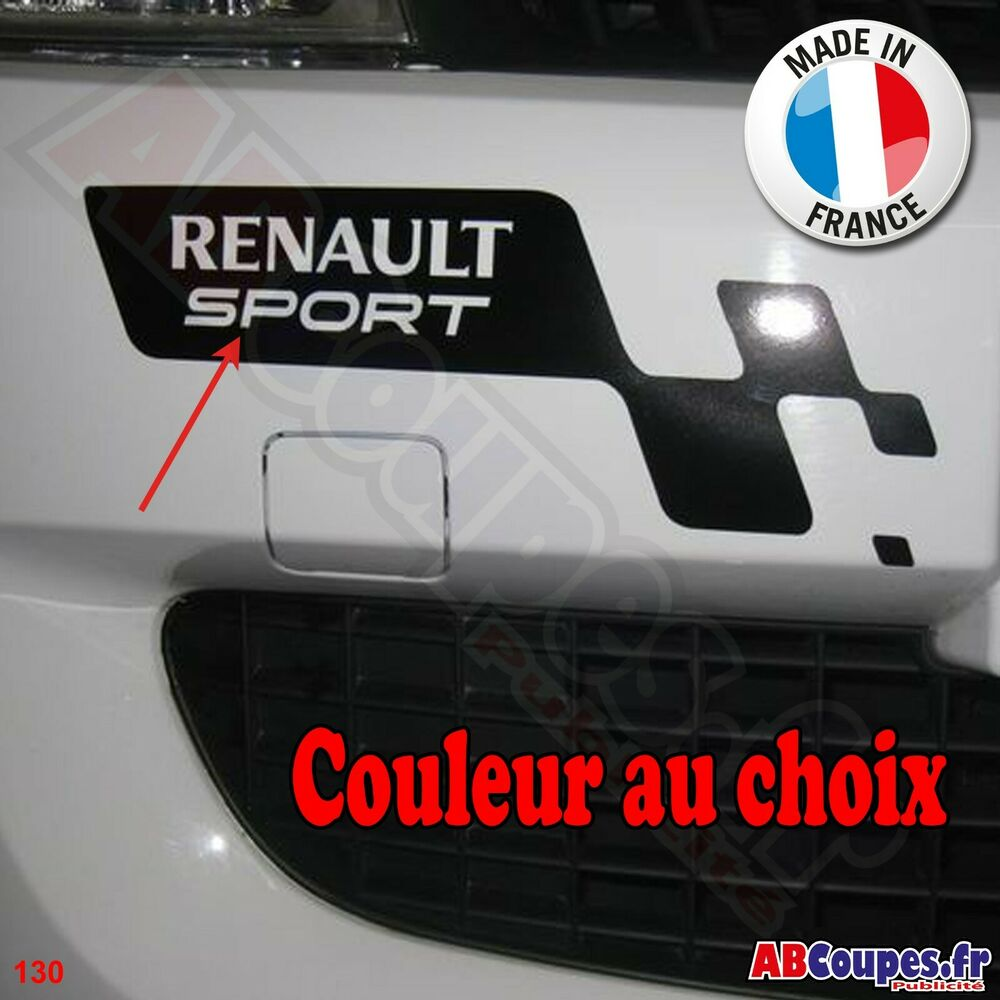 stickers damier pour pare choc pour renault clio sport twingo etc 130 ebay. Black Bedroom Furniture Sets. Home Design Ideas