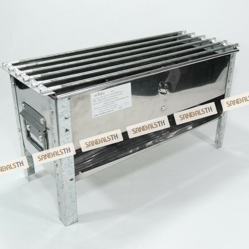 Smoker bbq grill stainless steel charcoal thai