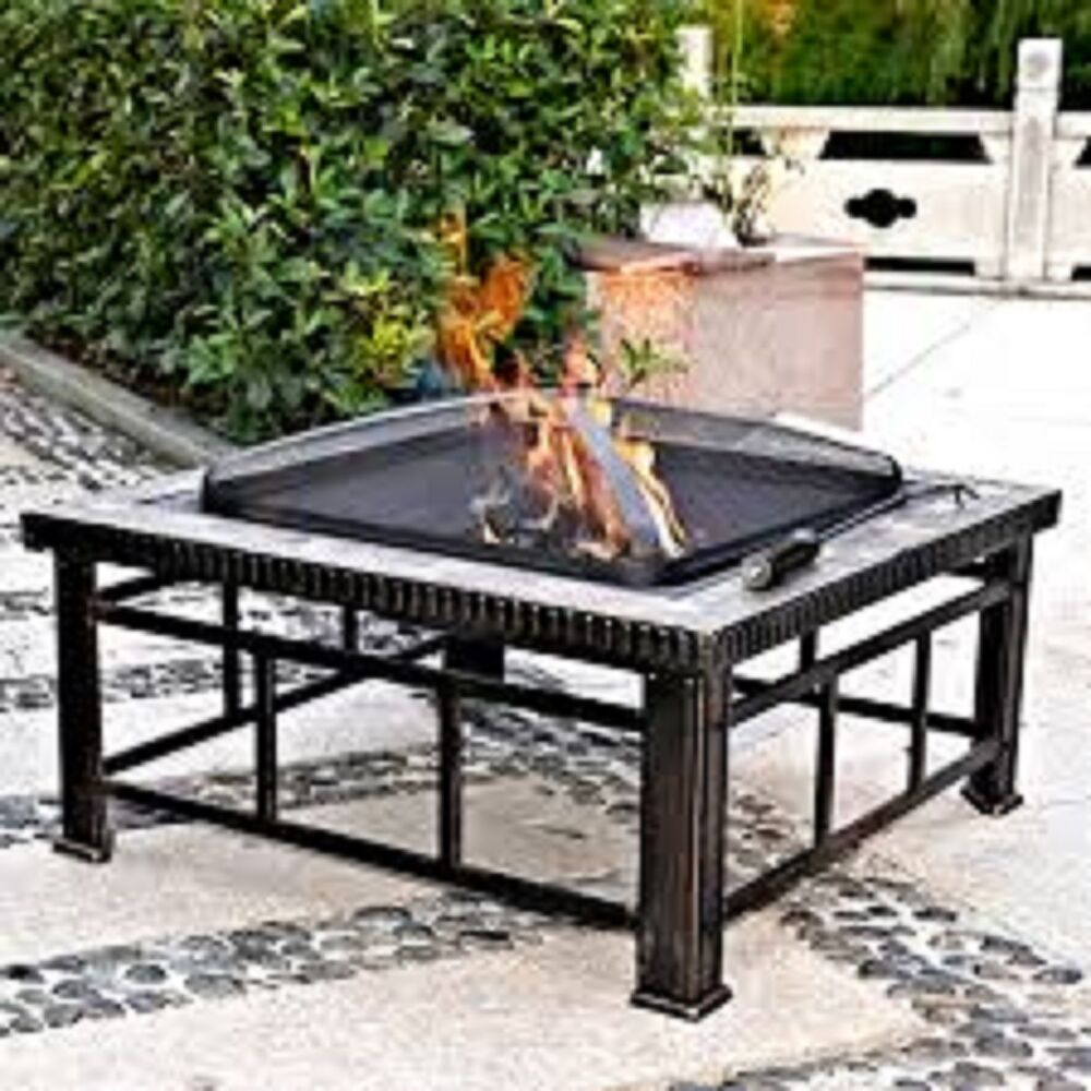 square fire pit table hudson 30 square slate pit table ebay 30218