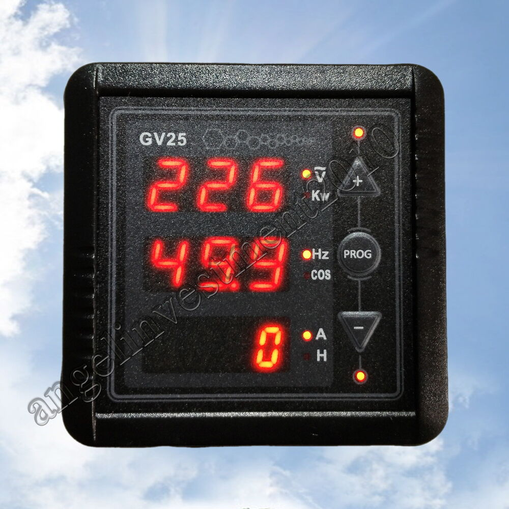 Hour Meters Panel : Led power generator voltage hz kw cos hour time