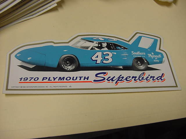 Richard petty 1970 plymouth superbird decal ebay for Telephone mural 1970