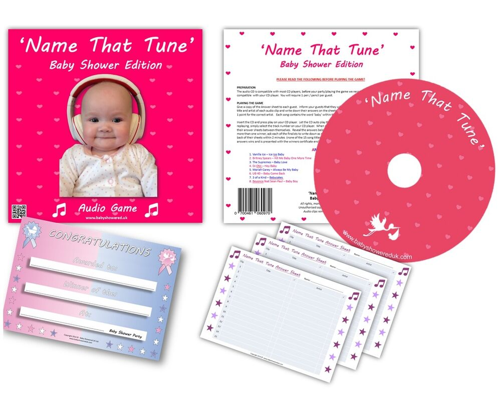 Baby Shower Party Games - NAME THAT TUNE - audio game ...