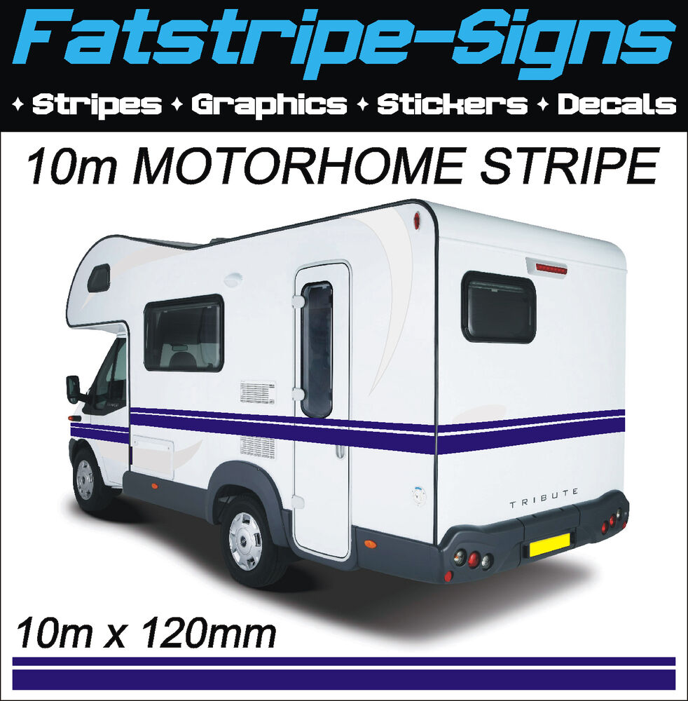 10m motorhome vinyl stripes graphics stickers decals for Decals for rv mural