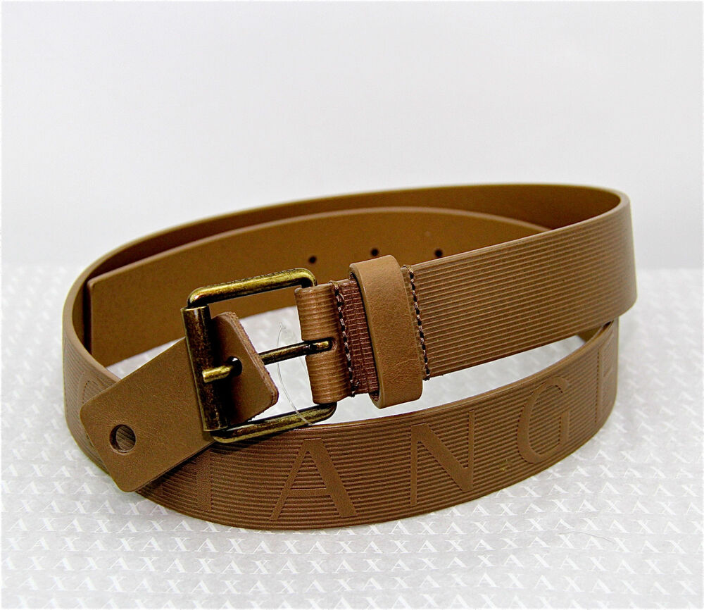 Armani Exchange A|X Dress Belt 100% Authentic 100% Leather New Made in ITALY | eBay