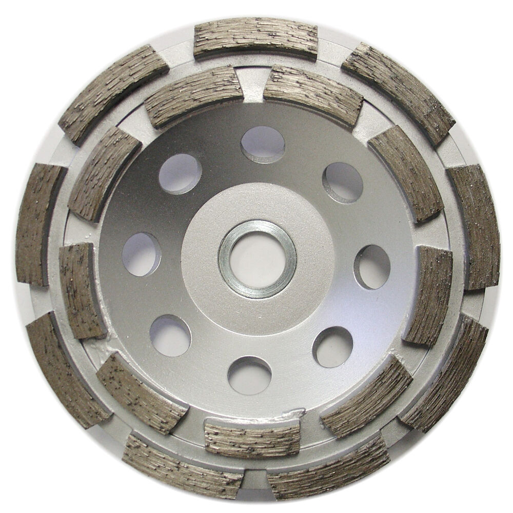 5 Double Row Concrete Diamond Grinding Cup Wheel For