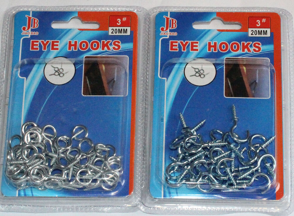 Hooks And Eyes For Net Curtain Wire Chrome Screws Picture