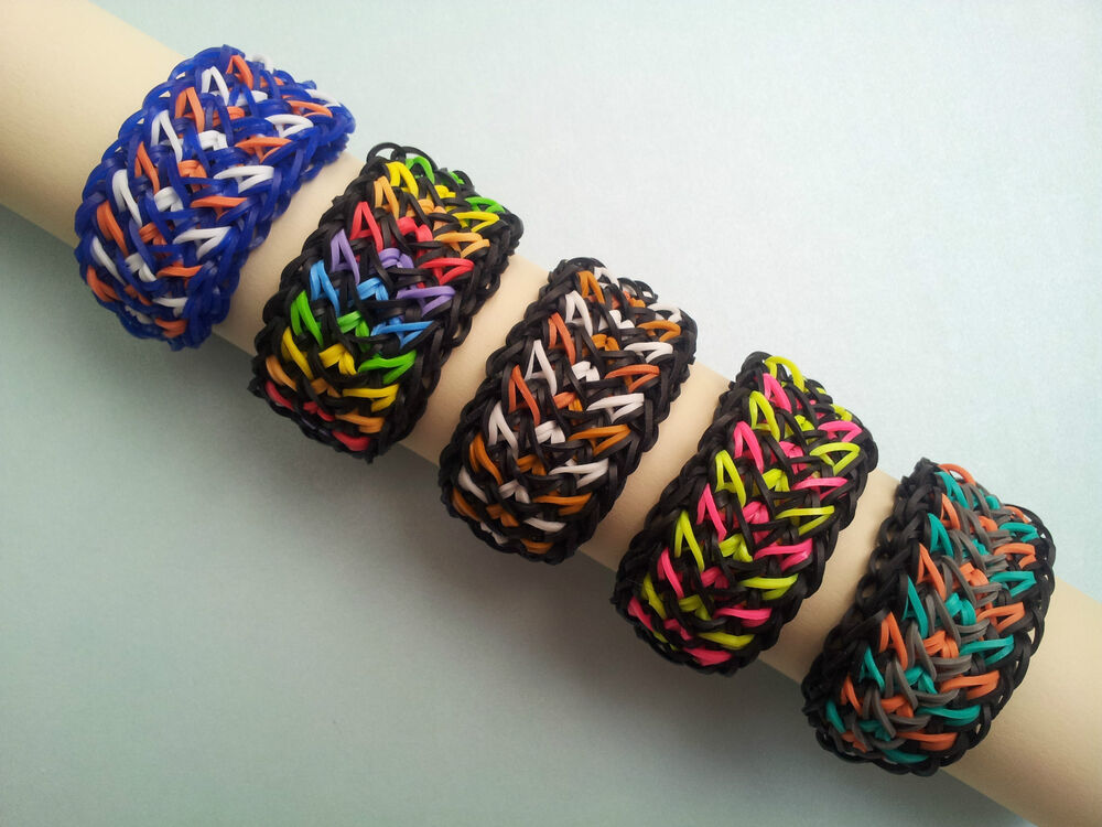 rainbow loom rubber band bracelet galaxy or custom