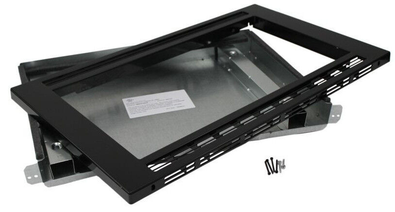 New frigidaire black 27 inch built in microwave trim kit for Microwave ovens built in with trim kit