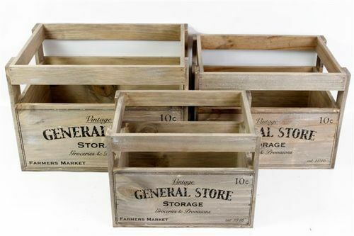 vintage chic wooden storage crate vegetable fruit box