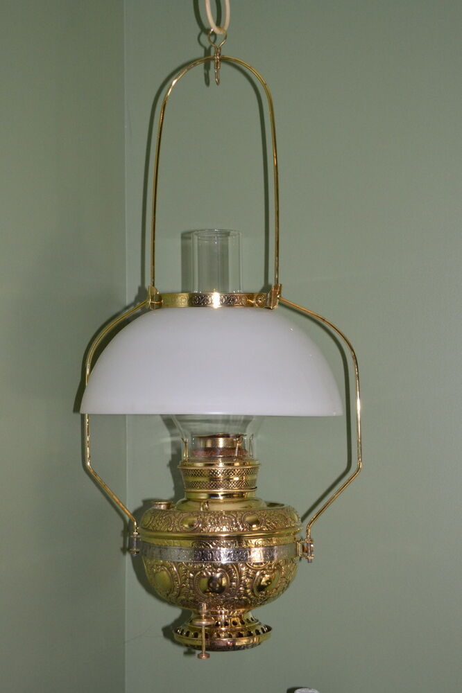 Antique Wall Hanging Oil Lamps : FABULOUS ANTIQUE MILLER HANGING COUNTRY STORE OIL KEROSENE LAMP eBay