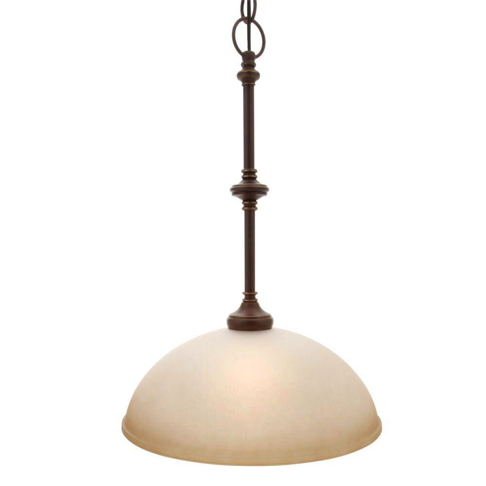 Hampton Bay Ceiling Pendant 1 Light Lighting Tea Stained