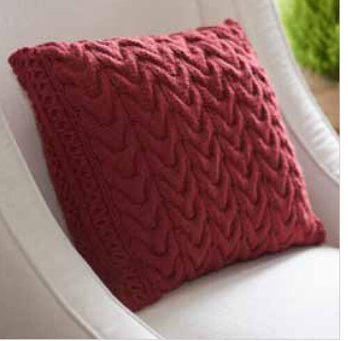 Nice Cable Cushion Cover Knitting Pattern Aran Wool 16 When