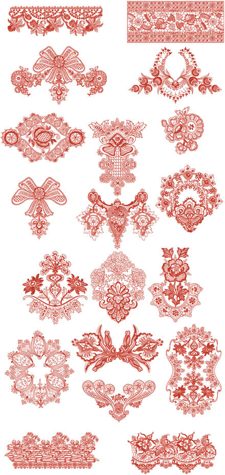 Abc designs florence decor machine embroidery 19 designs for Embroidery office design version 7 5