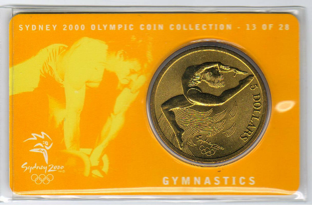 25 of 28 cover 2000 $5 RAM UNC Coin Sydney Olympic coin collection Cycling