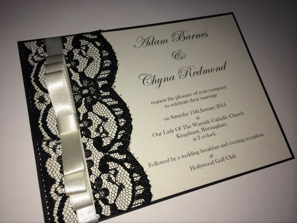 Wedding Invitation Card Handmade: Personalised/handmade Lace Wedding Invitation Card And
