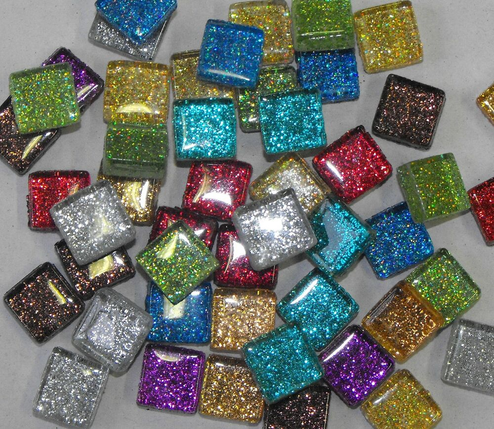 glitter tiles for mosaic art craft choice of colours